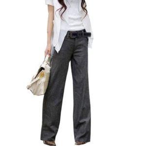 Express Dark Gray Wide Leg Dress Pants Trousers